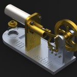 rendering of the Stirling Engine